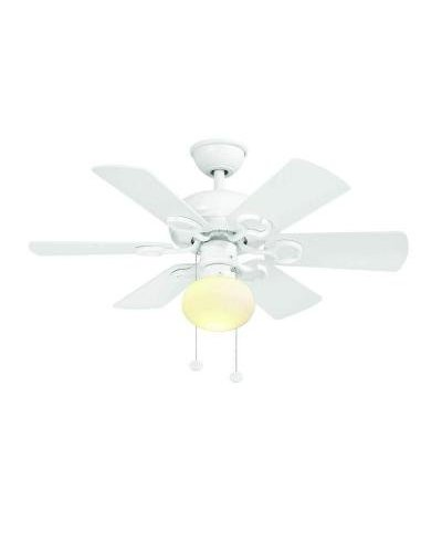 Minuet Iii 36 In Indoor White Ceiling Fan With Light Kit