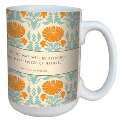 Tree-Free Greetings 79483 Contemporary Work Of Art Emerson Quote Art Ceramic Mug with Full-Sized Handle, 15-Ounce, Multicolored