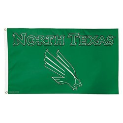 NCAA North Texas Mean Green Flag Deluxe, 3 x 5-Foot