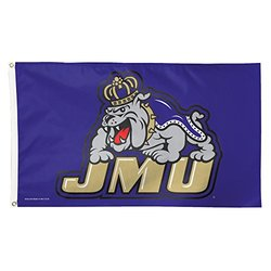 NCAA James Madison Dukes Flag Deluxe, 3 x 5-Foot