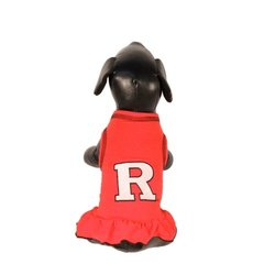 NCAA Rutgers Scarlet Knights Cheerleader Dog Dress (Team Color, X-Large)