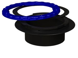 Culnat Culwell Property Saving Toilet Flange Ring - Black/Blue - Size: 4""