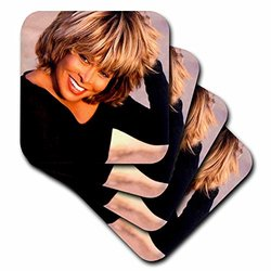 cst_3900_3 Tina Turner Ceramic Tile Coasters, (Set of 4)
