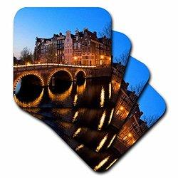 cst_82305_3 Netherlands, Amsterdam, Keisersgracht Canal Eu20 Jen0008 Jim Engelbrecht Ceramic Tile Coasters, (Set of 4)