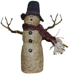 "Craft Outlet 9"" Top Hat Snowman Figurine"