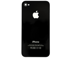 Apple GSM iPhone 4 Glass Back Cover for AT&T - Black
