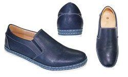 Frenchic Collections Men's Slip-On Loafers - Navy - Size: 13