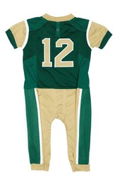 Fast Asleep NCAA Boys Infant Uniform Pajamas- Green/Gold - Sz: 0-3Months