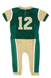Fast Asleep NCAA Boys Infant Uniform Pajamas- Green/Gold - Size:12-18 Month