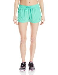 ASICS Women's Train for Sport 2-Inch Woven Shorts, Cool Mint, X-Large