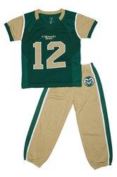 Fast Asleep NCAA Toddler Football Uniform Pajamas - Green/Gold - Sz: 2T
