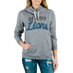 Women's Detroit Lions Steel Sunday Pullover Hoodie - Medium Heather/XX-L