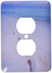 Lsp_89874_6 Nw Hawaiian Islands, Midway Atoll, Footprints - Us12 Rja0002 - Rebecca Jackrel 2 Plug Outlet Cover