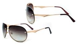 AG Dasein AG-U033 65mm Women's MMK Sunglasses - Frame: Gold / Lens: Coffee