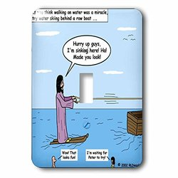 lsp_2637_1 Jesus - Water Skiing Single Toggle Switch
