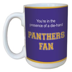 Tree-Free Greetings lm44828 Panthers College Basketball Ceramic Mug with Full-Sized Handle, 15-Ounce