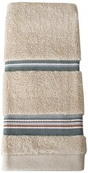 Saturday Knight Madison Stripe Finger Tip Towel, Blue