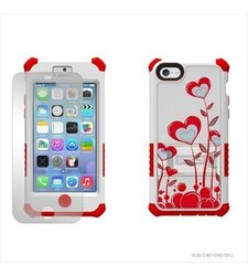 Tri-Shield Hard Shell Case for iPhone 5C Lite - White/Red (CNE13285)