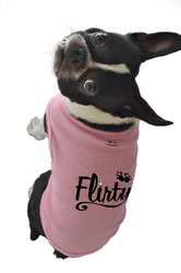 Ruff Ruff and Meow Dog Tank Top, Flirty, Pink, Extra-Small
