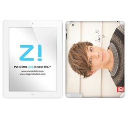 Zing Revolution One Direction Premium Vinyl Adhesive Skin for iPad 2 & iPad 4/3, Louis Image, MS-1D40351