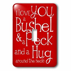 lsp_193475_1 I Love You A Bushel and A Peck. Red. Single Toggle Switch
