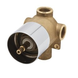 "Rohl RAC27PNBO Polished Nickel 1/2"" Valve Only with 16 FPM Flow Rate"