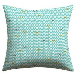 DENY Designs Heather Dutton Take Flight Aqua Outdoor Throw Pillow, 16 x 16