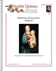 Scarlet Quince RAP007lg Madonna del Granduca by Raphael Counted Cross Stitch Chart, Large Size Symbols