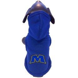 NCAA Morehead State Eagles Polar Fleece Hooded Dog Jacket, X-Small