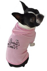Ruff Ruff and Meow Dog Hoodie, Southern Belle, Pink, Large