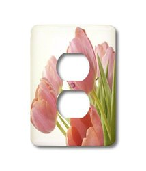 lsp_55218_6 Pleasantly Pink Tulips, 2 Plug Outlet Cover