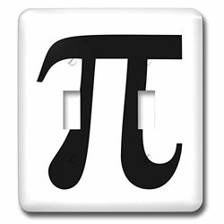 lsp_164891_2 Pi Symbol Math Sign. Mathematical Black and White Mathematics Number Double Toggle Switch