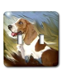 lsp_4266_2 Basset Hound Double Toggle Switch