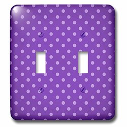 lsp_65772_2 Pretty Purple Polka Dots Pattern Double Toggle Switch