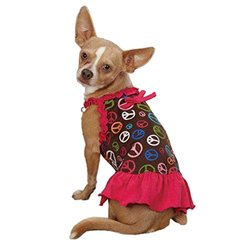 ESC Peace Out Pet Dress - Raspberry