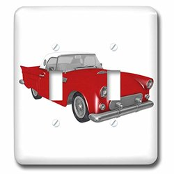 lsp_218619_2 1950S Red Classic Convertible Car Double Toggle Switch