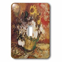 lsp_128115_1 Bowl of Sunflowers Roses and Other Flowers By Vincent Van Gogh Single Toggle Switch
