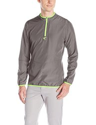 Easton Men's M5 Long Sleeve Cage Jacket, Graphite/Torq Green, Medium