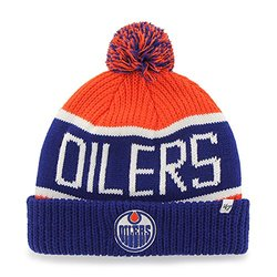Brand 47 NHL Beanie Hat with Pom & Cuffed Winter Knit Toque Cap - Multi