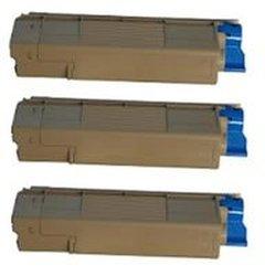 Amsahr Okidata C5500n Toner Cartridge with Three Black Cartridges