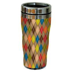 Tree-Free Greetings sg23500 Contemporary Argyle by Carolyn Gavin Sip 'N Go Stainless Steel Tumbler, 16-Ounce