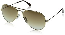 Ray-Ban Aviator Sunglasses - Gold Frame/Crystal Brown Lens