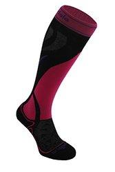 Bridgedale Women's Vertige Mid Socks, Black/Pink, Medium