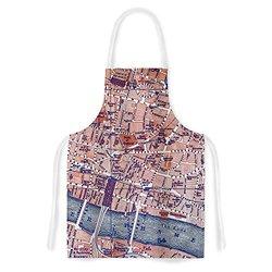 "KESS InHouse Alison Coxon ""City Of London"" Map Apron - Multi-Color"