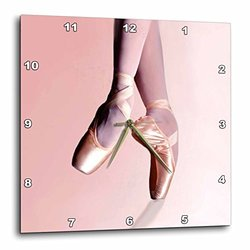 "dpp_1277_2 Wall Clock, 13 by 13-Inch, ""Ballet Slippers"""