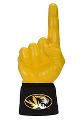 NCAA Missouri Tigers Licensed Foam Finger with Jersey Sleeve, Yellow/Black