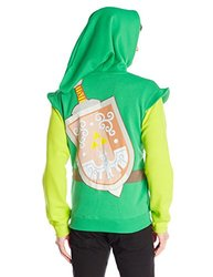 Link Hood Men's Hoodie -Green/Gray - Size: Small