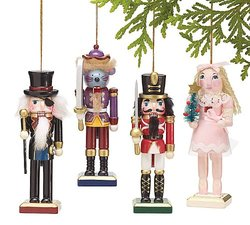 Burton & Burton Wooden Handpainted Nutcracker Ornaments Set - Assorted