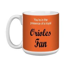 Tree-Free Greetings XM28079 Orioles Baseball Fan Artful Jumbo Mug, 20-Ounce