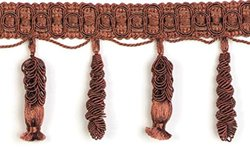 Expo International Spiral Tassel Fringe Trim, 10 yd., Cocoa